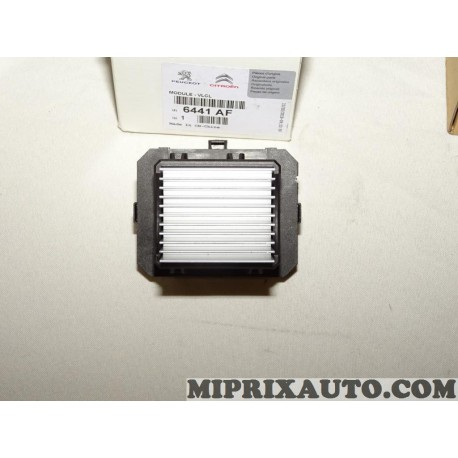 Resistance pulseur air chauffage ventilation Citroen Peugeot original OEM 6441AF