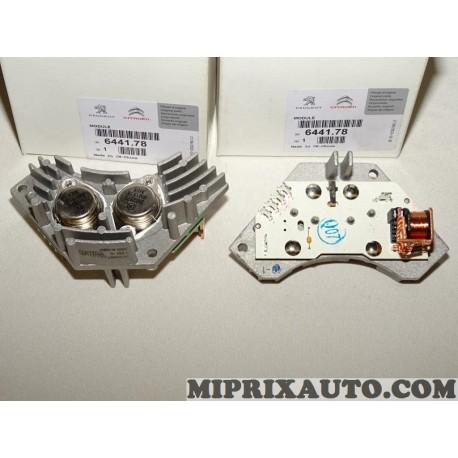 1 Resistance pulseur air chauffage ventilation Citroen Peugeot original OEM 644178