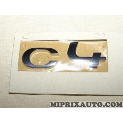 Motif logo embleme monogramme ecusson badge Citroen Peugeot original OEM 8666CR pour citroen C4