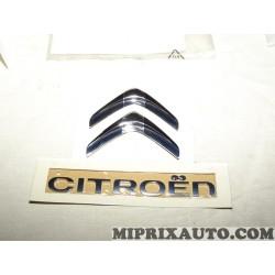 Motif logo embleme monogramme ecusson badge chevron Citroen Peugeot original OEM 9673296480