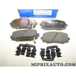 Jeux 4 plaquettes de frein Hyundai Kia original OEM 581011JA60