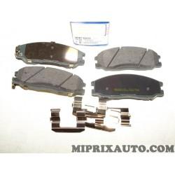 Jeux 4 plaquettes de frein Hyundai Kia original OEM 581013AA20