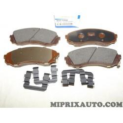 Jeux 4 plaquettes de frein Hyundai Kia original OEM 581014HA50