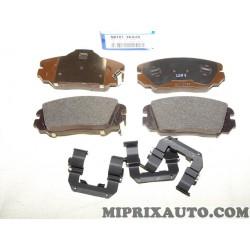 Jeux 4 plaquettes de frein Hyundai Kia original OEM 581013KA20