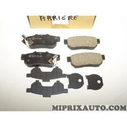 Jeux 4 plaquettes de frein Honda original OEM 43022SAAE51