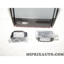 Lot 2 feux LED eclairage sol bas de porte portiere Volkswagen Audi Skoda Seat original OEM 4G0052130 pour audi A4 A5 A6 A7 S4 S5