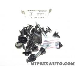 Pack agrafes attache fixation porte arriere Fiat Alfa Romeo Lancia original OEM 51097063 pour fiat scudo 3H