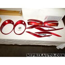 Pack kit coques calotte retroviseur contour phare moulure rouge Nissan Infiniti original OEM KE600BV010RD KE600-BV010-RD pour ni