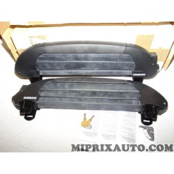 Paire supports fixation porte ski avec système verrouillage Nissan Infiniti original OEM KE73899993 KE738-99993